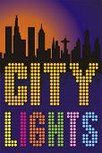 Постер, плакат: огни большого города