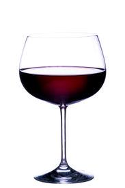 picture of red wine  - Glass of red wine on white background - JPG