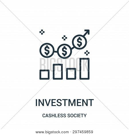 poster of Investment Icon Isolated On White Background From Cashless Society Collection. Investment Icon Trend