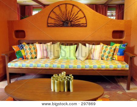 Picture or photo of living room mexican style for Mexican living room decor