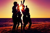 pic of beach party  - People  - JPG