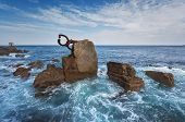 San Sebastian Coastline Landscape, Basque Country, Spain. poster