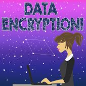 Handwriting Text Data Encryption. Concept Meaning Another Form Code That Only Showing With Access Se poster