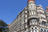 stock photo of british bombay  - luxury historic hotel Taj Mahal Palace in Mumbai  - JPG