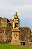 pic of william wallace  - King Robert The Bruce statue Castle of Stirling Scotland - JPG