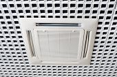 picture of air conditioning  - Air conditioning system installed on the ceiling - JPG