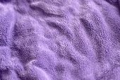 Lilac Delicate Soft Background Of Fur Plush Smooth Fabric. Texture Of Purple Soft Fleecy Blanket Tex poster