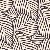 Abstract Leaf Seamless Pattern. Exotic Plant. Tropical Pattern, Palm Leaves poster