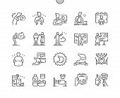 World Digestive Health Day Well-crafted Pixel Perfect Vector Thin Line Icons 30 2x Grid For Web Grap poster