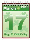 stock photo of fourleaf  - calendar with St - JPG