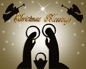 pic of nativity scene  - Christmas Abstract Nativity scene for card stationery or holiday invitation - JPG