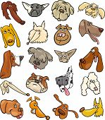 pic of newfoundland puppy  - Cartoon Illustration of Different Happy Dogs Heads Big Collection Set - JPG