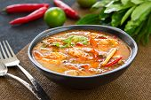 Thai sour and spicy prawn soup poster