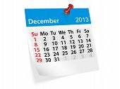 Monthly Calendar For New Year 2013. December