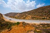 picture of samaria  - Meandering Road in Hills of Samaria Israel - JPG