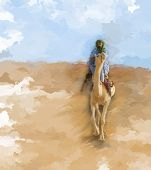 Постер, плакат: Верблюжий Райдер