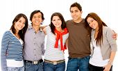 stock photo of young adult  - group of young adults smiling  - JPG