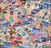 old U.S. air mail postage stamps