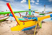 foto of dua  - Traditional fishing boats on a beach - JPG