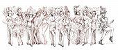 image of moulin rouge  - Cancan dancers  - JPG