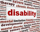 stock photo of disability  - Disability medical message background - JPG