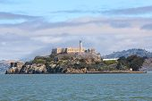 picture of alcatraz  - Alcatraz Island in San Francisco Bay which is famous - JPG