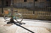 picture of calatrava  - Bike parked in front of the stairs of College of the Immaculate Conception commonly called Calatrava College Salamanca - JPG
