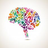 foto of neurology  - Creative concept of the human brain - JPG