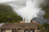 Elevated view of Pongolapoort dam South Africa