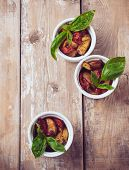 stock photo of basil leaves  - Vegan food - JPG