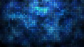 stock photo of pixel  - Abstract illuminated wall mosaic horizontal vector background - JPG