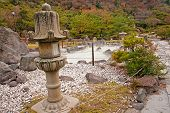 Japanese Garden In The Onsen (hot Springs)