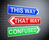 foto of confusing  - Illustration depicting signs with a confusion concept - JPG