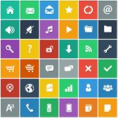 stock photo of globe  - flat icons set  - JPG