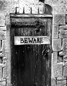 picture of dungeon  - door to a dungeon or forbidden secret room - JPG