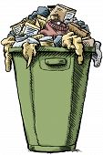 pic of garbage bin  - A cartoon garbage bin - JPG