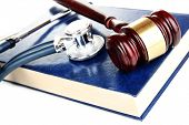 stock photo of tribunal  - Medicine law concept - JPG