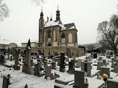 Cemetery With Snow