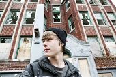 pic of beanie hat  - Inner city Teenage boy - JPG