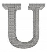 Chain Link Steel Alphabet - U