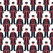 image of beefeater  - Seamless Vector Pattern 