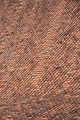 foto of red roof tile  - old roof red tile covering surface pattern - JPG