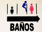 Funny Toilet Sign In Spanish