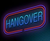 pic of hangover  - Illustration depicting an illuminated neon sign with a hangover concept - JPG