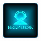 stock photo of helpdesk  - Helpdesk icon - JPG