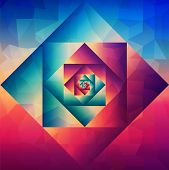 image of psychodelic  - Colorful retro psychedelic optic art style seamless pattern background - JPG