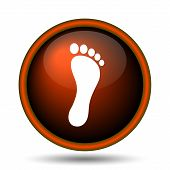 pic of webbed feet white  - Foot print icon - JPG
