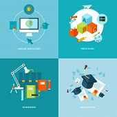 picture of homework  - Vector school and education icons set for web design and mobile apps - JPG