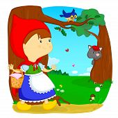 pic of little red riding hood  - little red riding hood is pies his grandmother - JPG