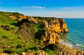 stock photo of lagos  - Rocks and Cliffs along the Coast of Lagos - JPG